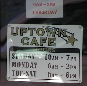 Uptown Cafe Labor Day 2011